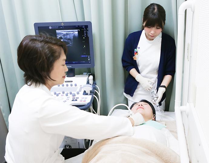 甲状腺の穿刺細胞診検査