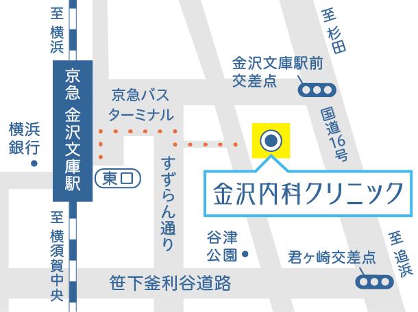 金沢内科クリニックの地図